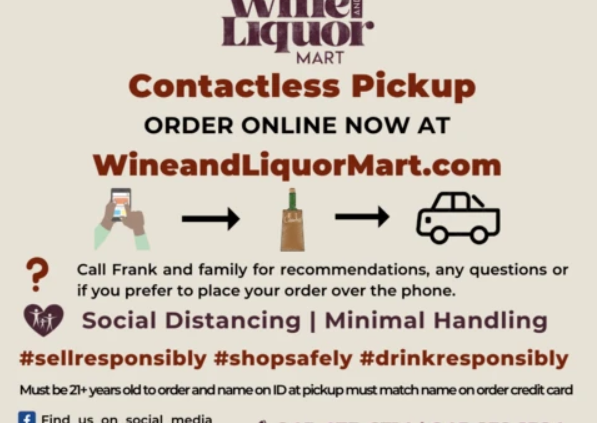 contactless pick up technology wine liquor mart poughkeepsie